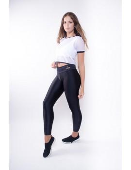 T-Shirt Curvas Latina sportswear- black and white