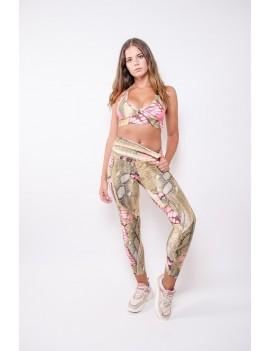 Leggings high-waist sportswear print   Curvas Latina - Caribe  Light